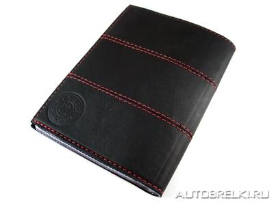 Бумажник водителя lada из натуральной кожис брелоком